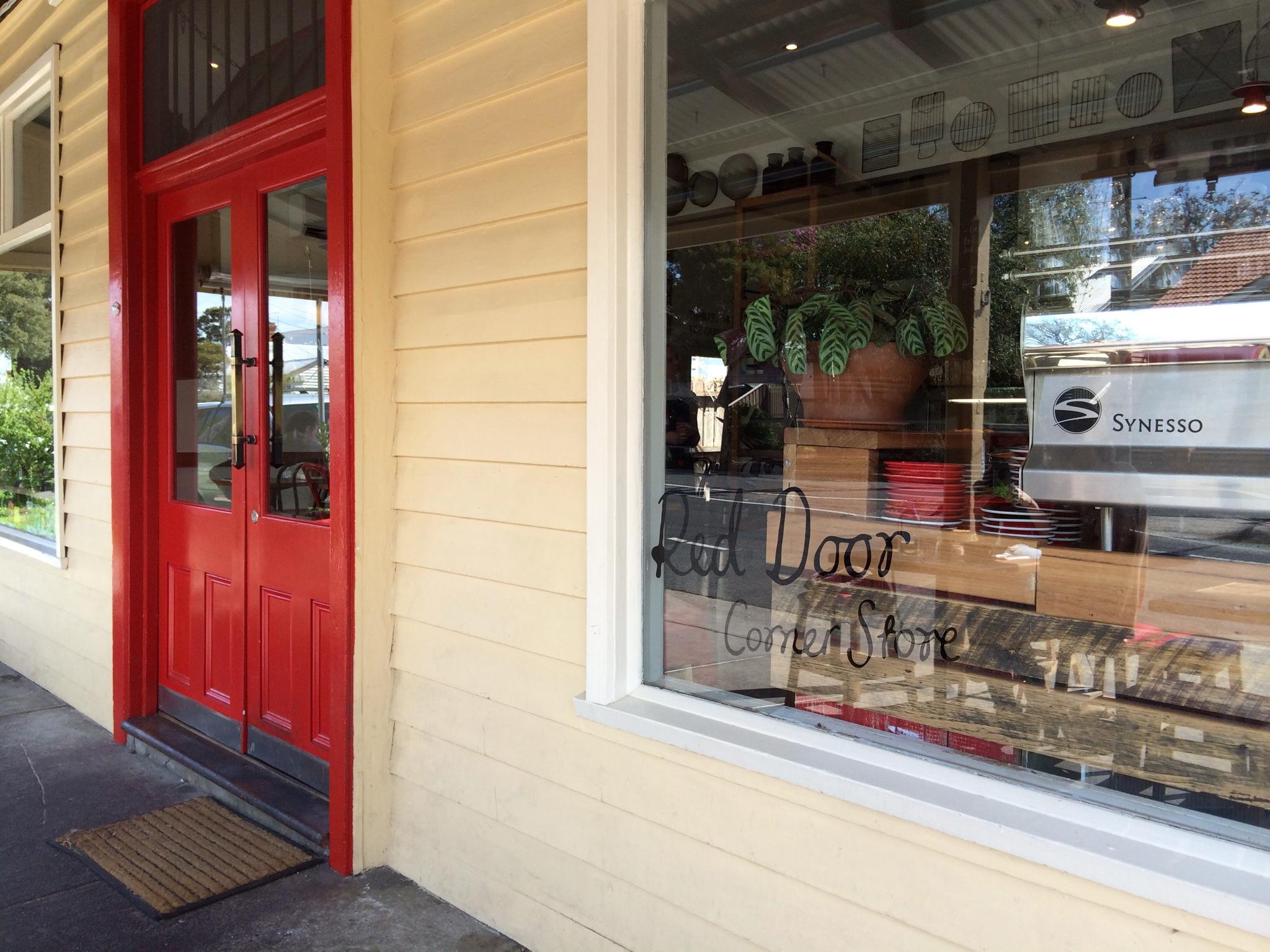 Eat Here Red Door Corner Store Melbourne Brunch Ordinary Girl