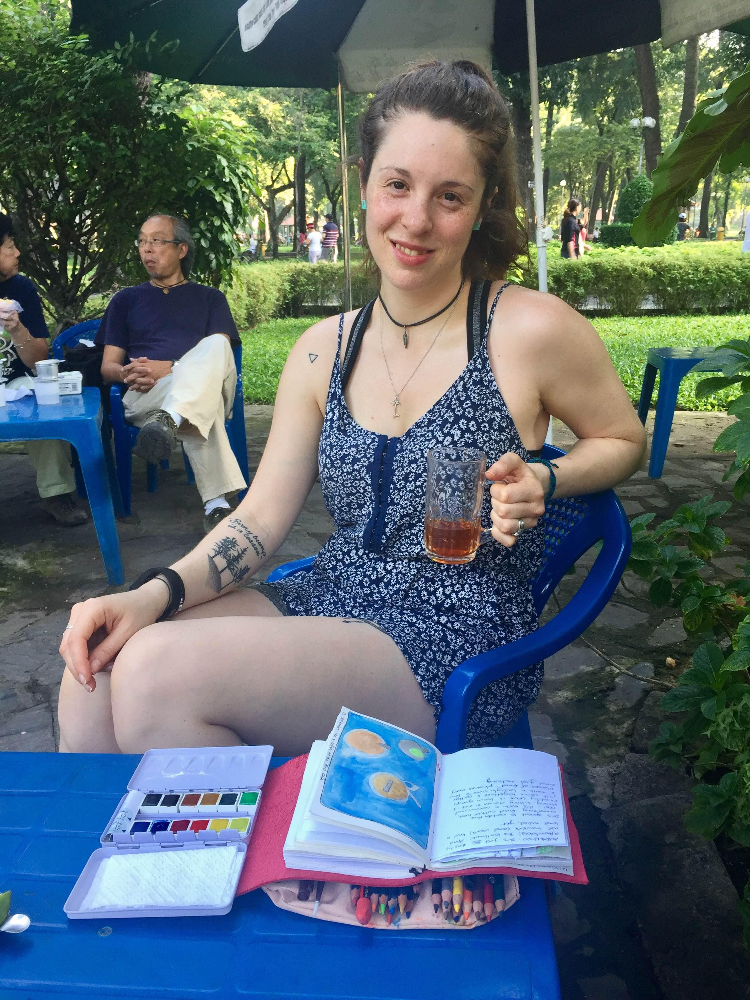 Tea time: Tao Dan Park Bird Cafe, Saigon, Vietnam